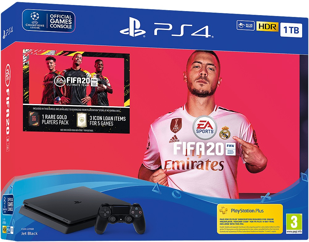 Sony Playstation 4 Slim 1TB + FIFA 20 - PlayStation 4 Gépek