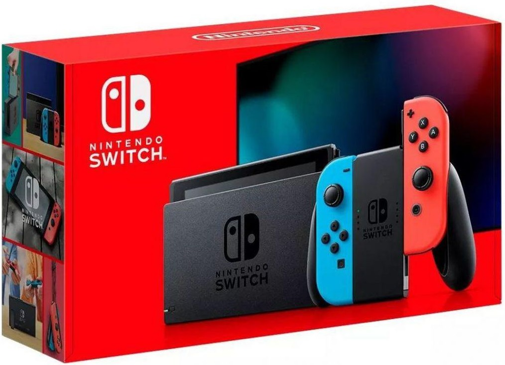 Nintendo Switch Neon Red / Neon Blue (Version 2)
