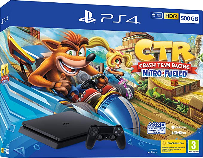 Sony PlayStation 4 Slim 500GB Crash Team Racing Nitro Fueled Bundle