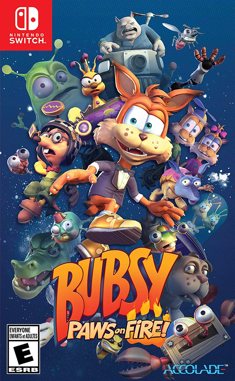 Bubsy Paws on Fire