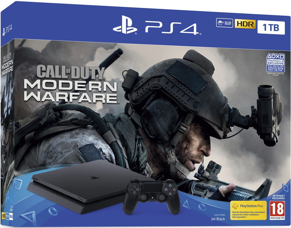 Sony PlayStation 4 Slim 1TB Call of Duty: Modern Warfare (COD MW 2019) Bundle