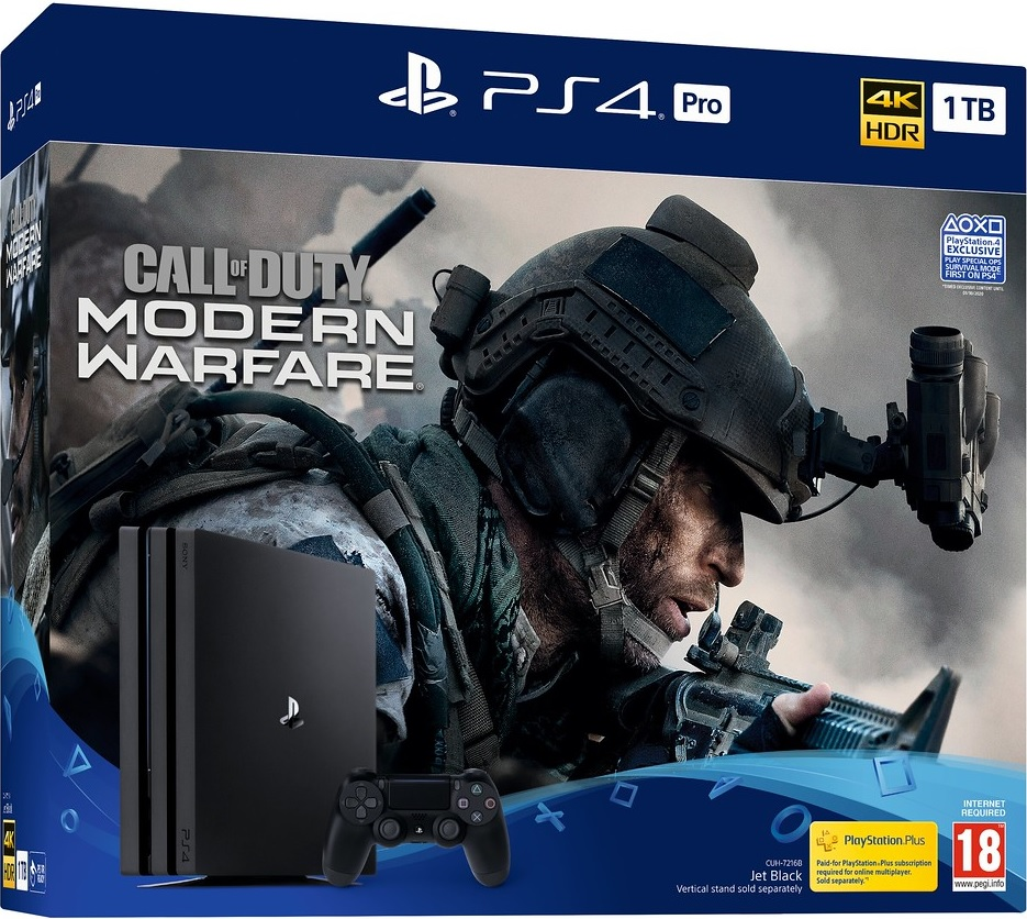 Sony PlayStation 4 Pro 1TB Call of Duty: Modern Warfare (COD MW 2019) Bundle