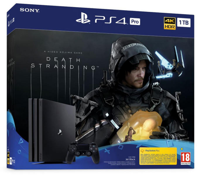 Sony Playstation 4 Pro 1TB Death Stranding Bundle
