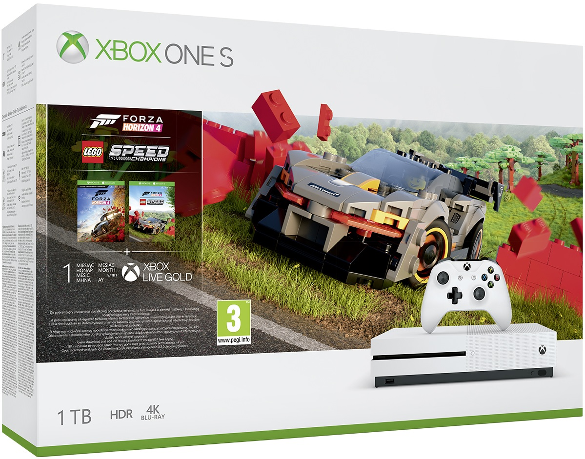 Microsoft Xbox One S 1TB Forza Horizon 4 LEGO Speed Champions Bundle