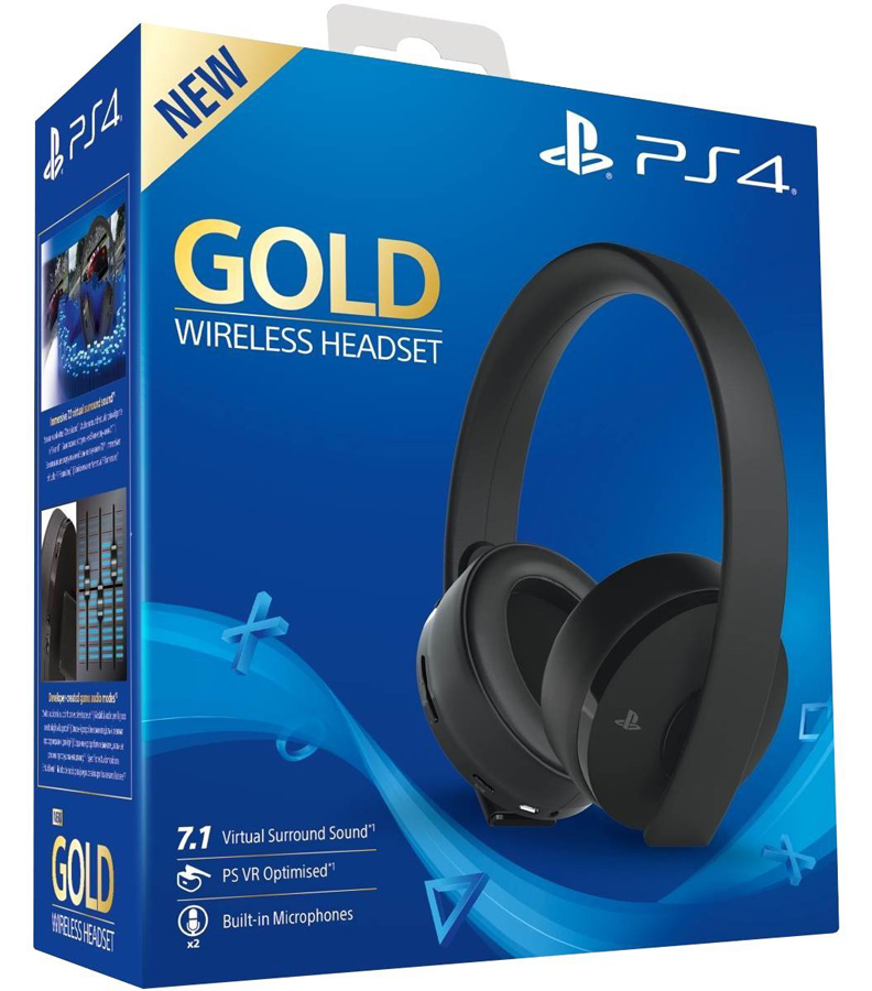 Sony Playstation Wireless Gold Headset 7.1 (Ps4)