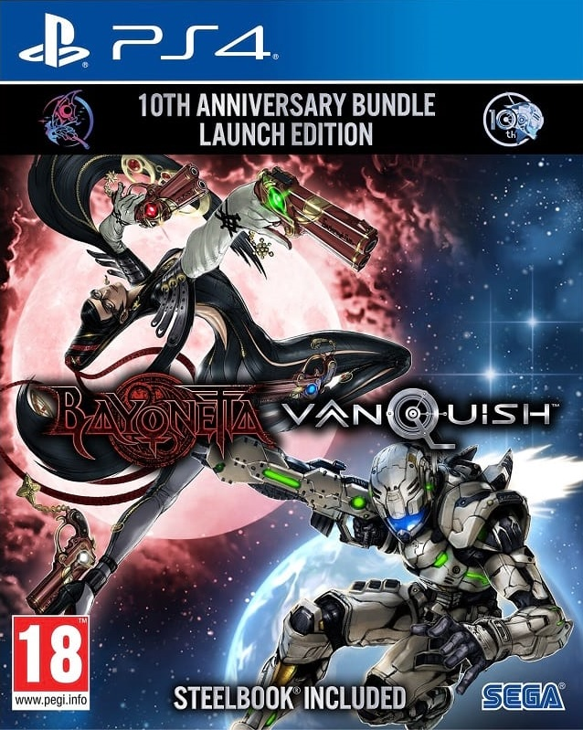 Bayonetta and Vanquish 10th Anniversary Bundle Steelbook Launch Edition