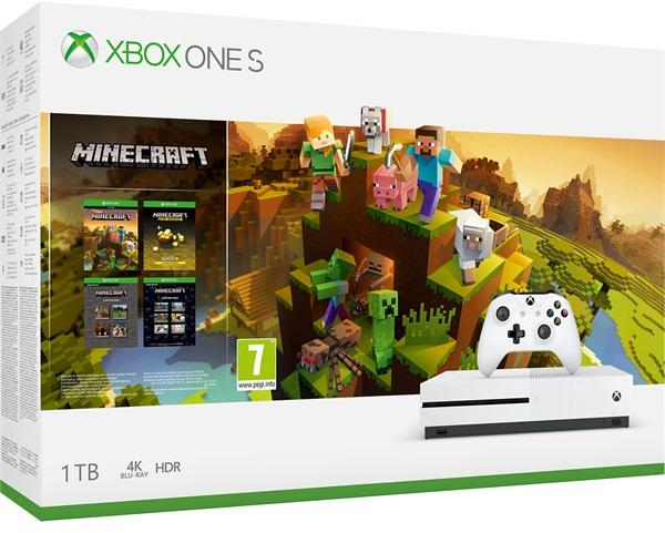 Microsoft Xbox One S 1TB + Minecraft Master Collection - Xbox One Gépek