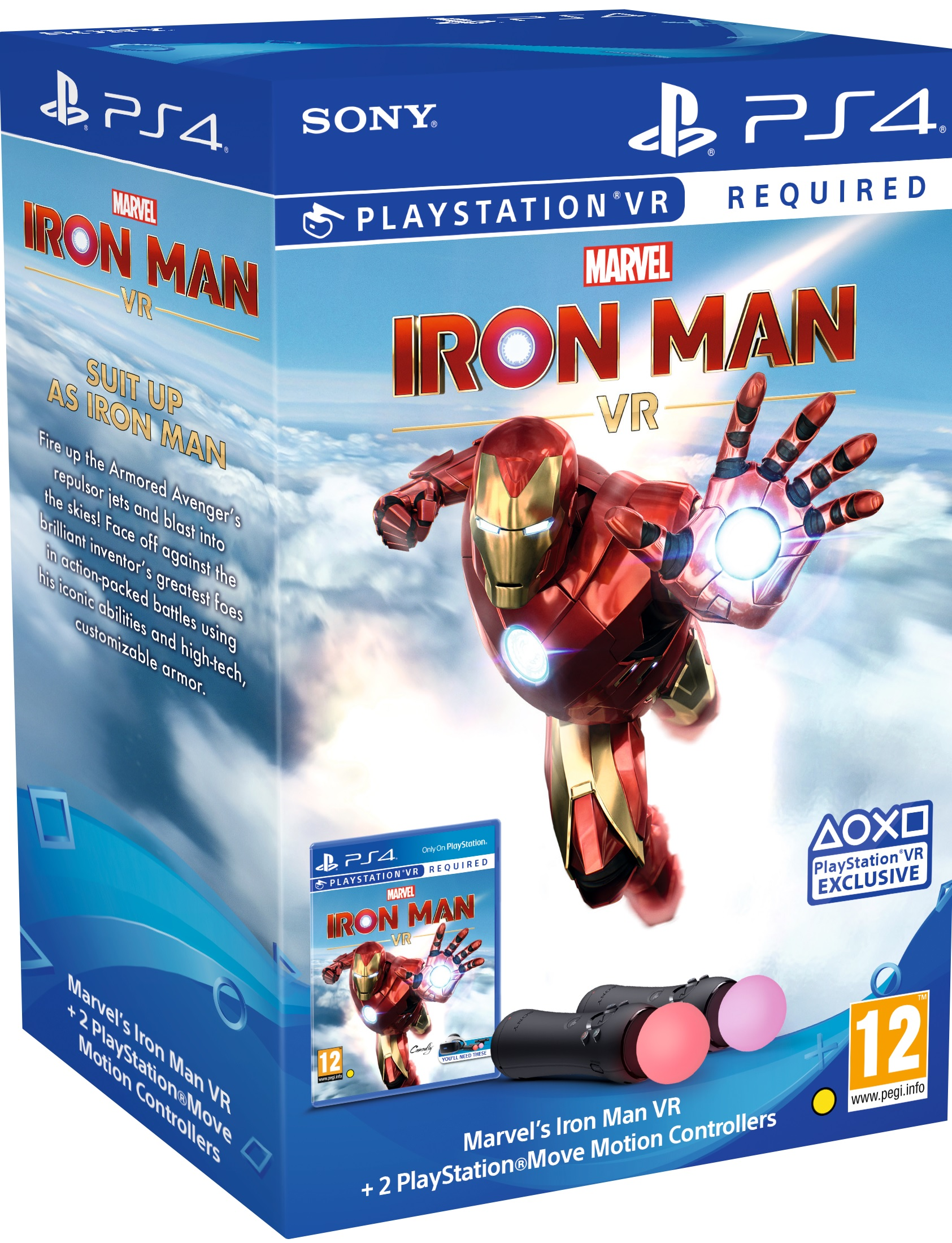 Sony Playstation VR Move Twin Pack + Marvels Iron Man VR Bundle