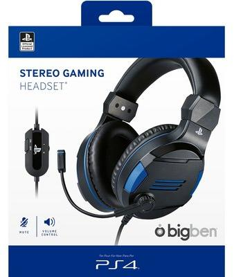 BIGBEN Stereo Gaming Headset V3 (PS4) kék