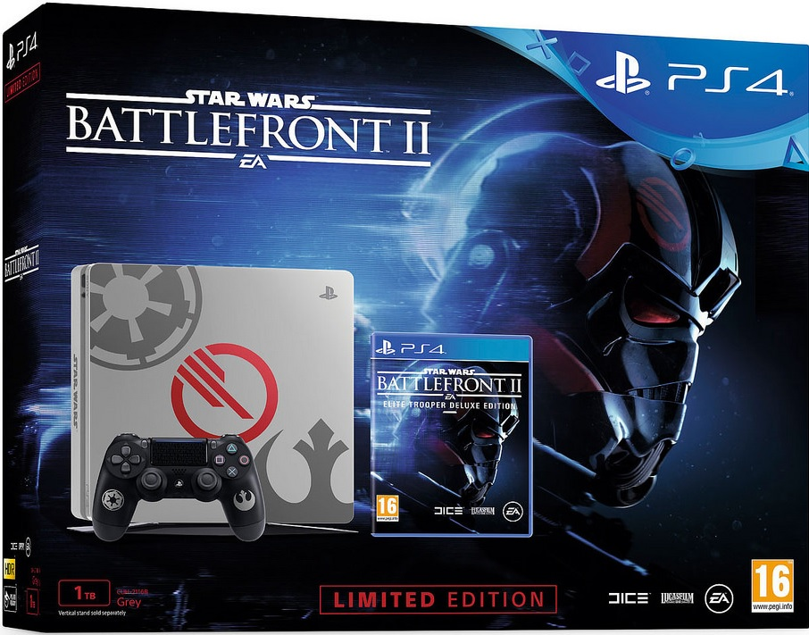 Sony Playstation 4 Slim 1TB Star Wars Battlefront II Limited Edition Bundle