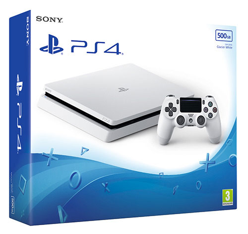 Sony Playstation 4  Slim 500 GB Glacier White - PlayStation 4 Gépek