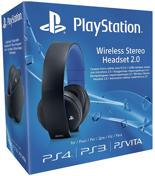 Sony Playstation 4 2.0 Wireless Headset Virtual 7.1 (Fekete) - PlayStation 4 Kiegészítők