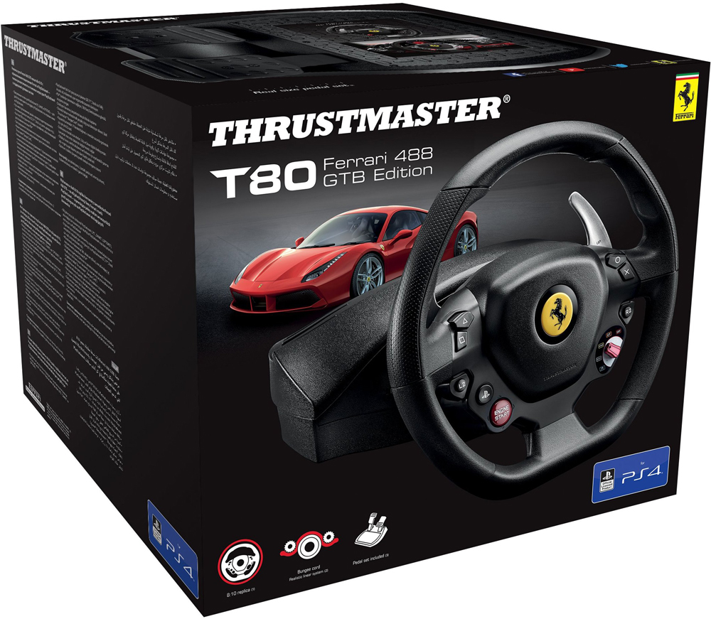 Thrustmaster T80 Ferrari 488 GTB Edition Playstation 4,PC