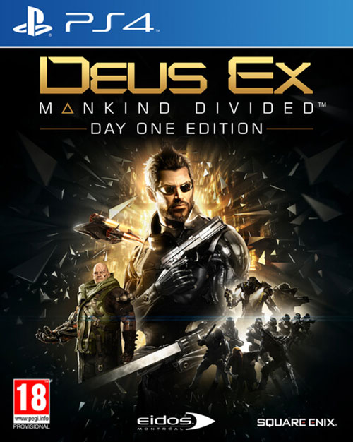 Deus Ex Mankind Divided Day One Edition (Steelbook) - PlayStation 4 Játékok