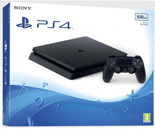 Sony Playstation 4 Slim 500 GB Fekete - PlayStation 4 Gépek