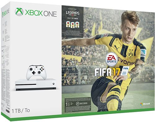 Microsoft Xbox One S 1TB FIFA 17 Bundle