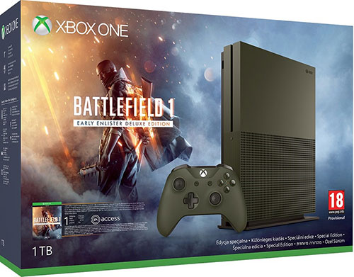 Microsoft Xbox One S 1TB Battlefield 1 Limited Edition
