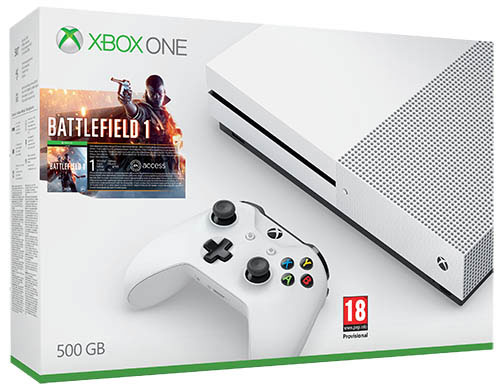 Microsoft Xbox One S 500GB Battlefield 1 Bundle - Xbox One Gépek