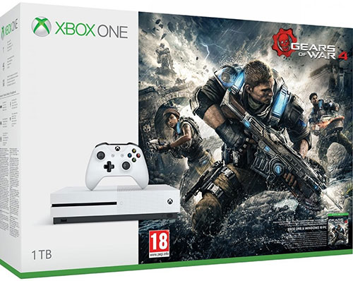 Microsoft Xbox One S 1TB Gears Of War 4 Bundle - Xbox One Gépek