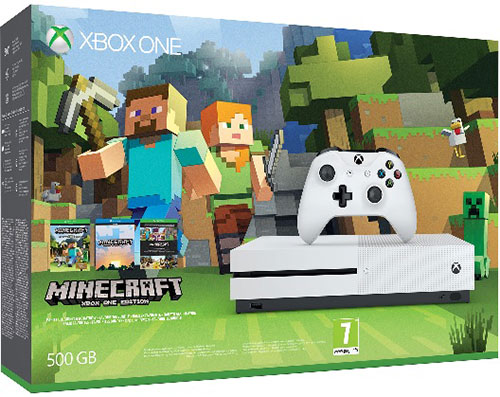 Microsoft Xbox One S 500 GB Minecraft Bundle - Xbox One Gépek