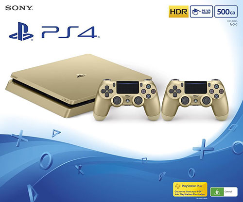 Sony Playstation 4 Slim 500 GB Gold Bundle