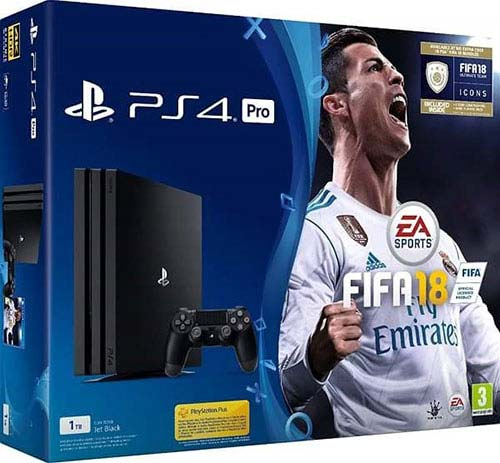 Sony Playstation 4 Pro 1TB Fifa 18 Bundle